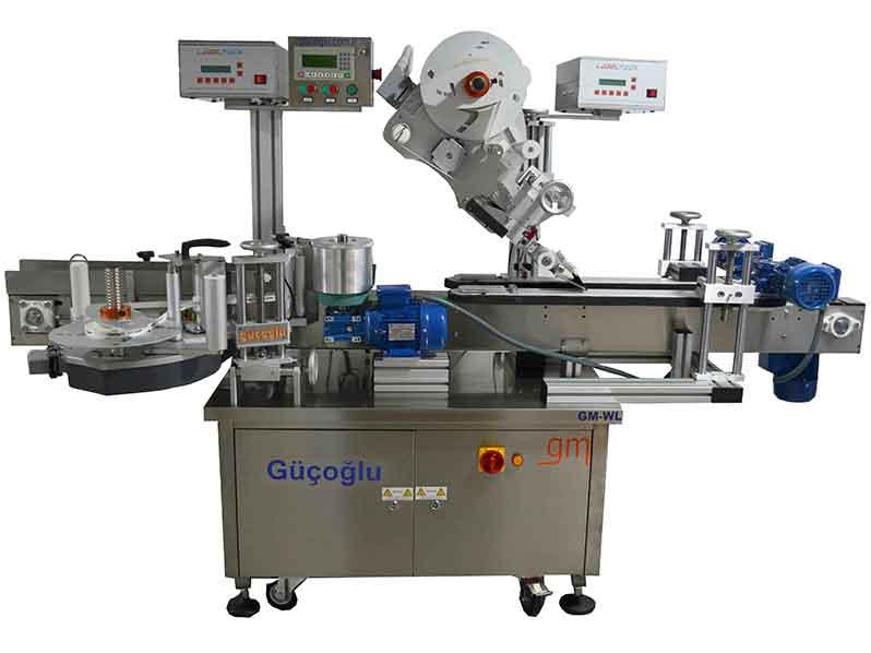 Pistonlu Çift Taraflı Etiketleme Makinası (Kısmi veya Tam Sarma / Üst Yüzey Etiketleme Makinası) GML-P 140/250