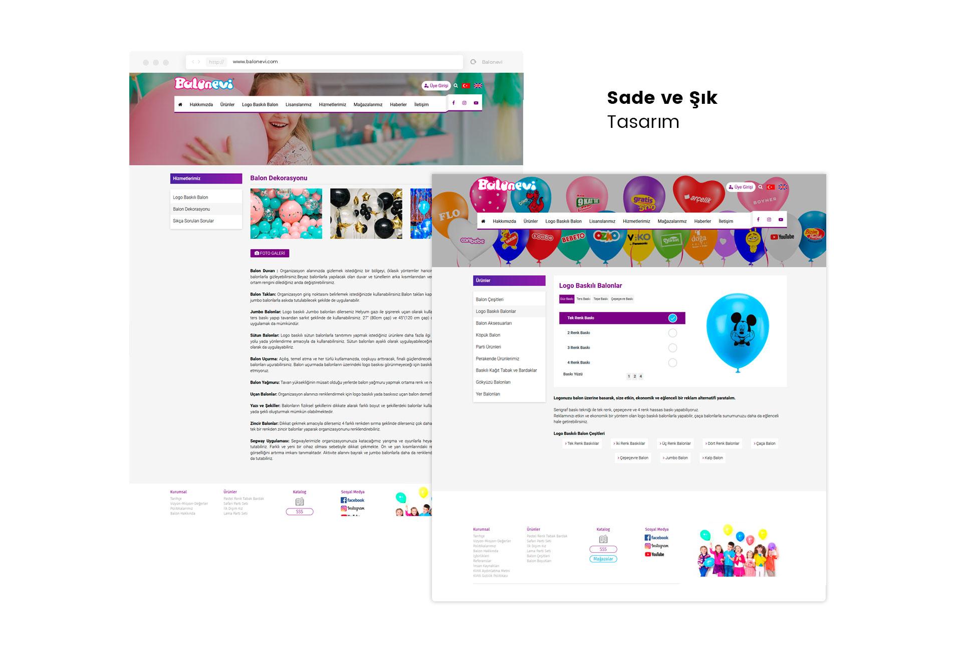Balonevi Web Sitesi Tasarım