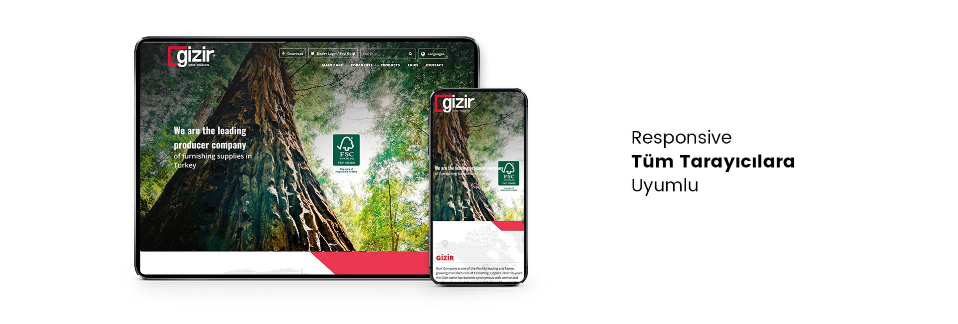 Gizir Ağaç Ürünleri Web Sitesi