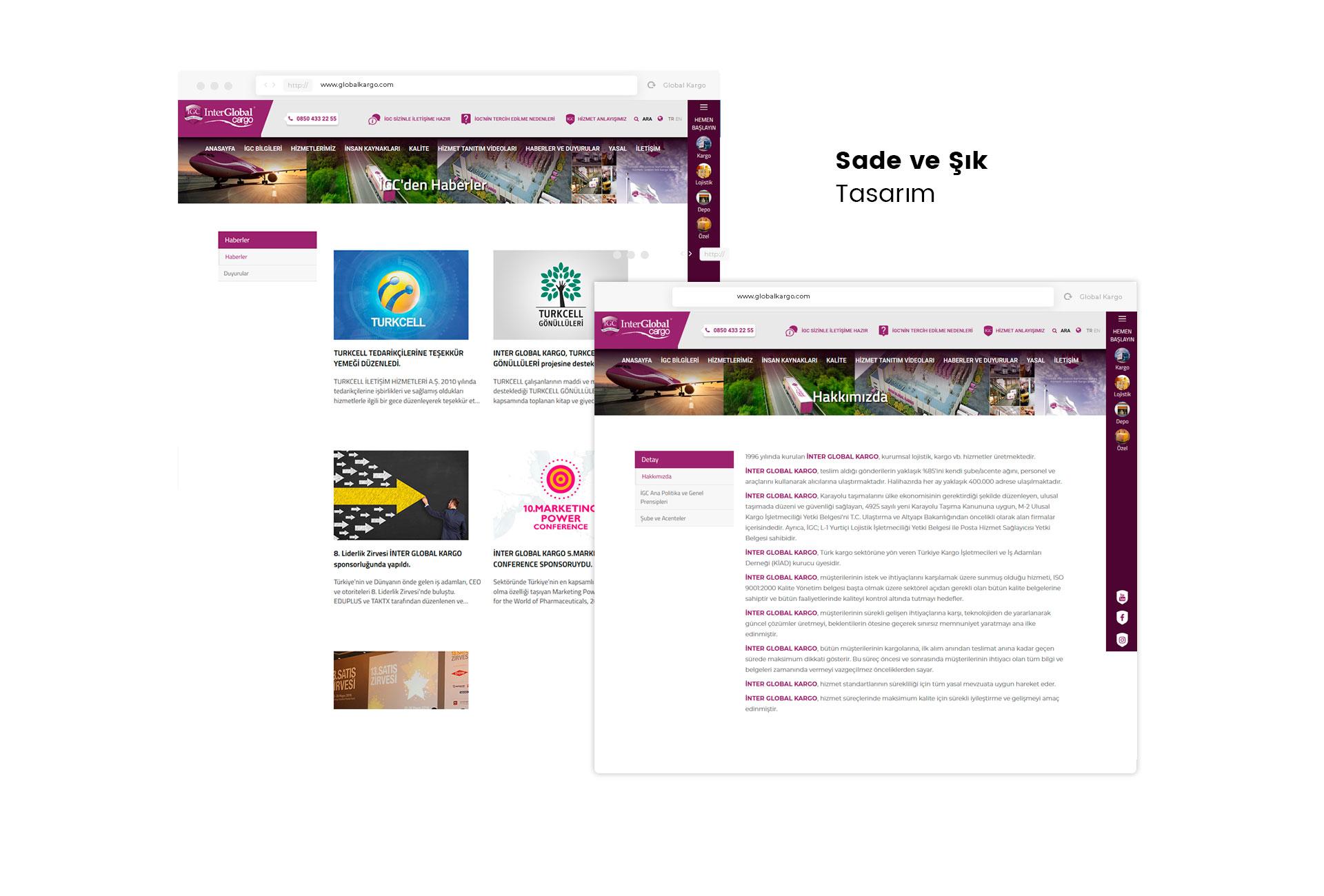 İnter Global Kargo Web Site Tasarımı
