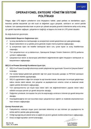Entegre Yönetim Sistemi (EYS) Politikası