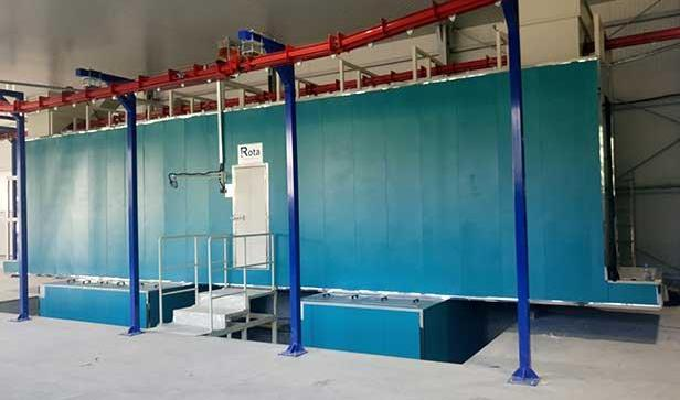 Spray Surface Cleaning and Powder Coating Line